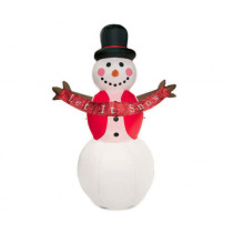 8' Inflatable Snowman with Let it Snow Banner