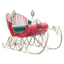 Life-Size Christmas Victorian Santa Sleigh Iron Commercial Christmas Decoration