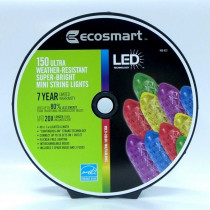 EcoSmart 150-Light LED Multi-Colored M5 Mini Light Set on a Spool