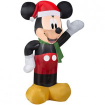 3.5' Mickey Mouse in Santa Hat Christmas Inflatable