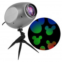 Gemmy Mickey Mouse Ears Cascading Multi-Color LED Projection Spotlight