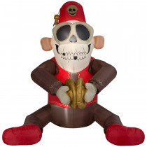 6 ft. Animated Cymbal Monkey Airblown Inflatable