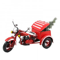 "25"" Red Metal Trike w Detachable Christmas Tree"