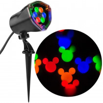 Gemmy Mickey Mouse Ears Multi-Color Fantastic Flurry LED Projection Spotlight