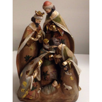 "17"" Nativity Scene Resin Statue"