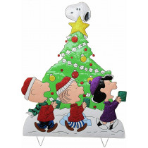"42"" Peanuts Gang Caroling Around Christmas Tree"