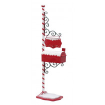 North Pole Mailbox Christmas Decoration with Hanging Sign to Personalize