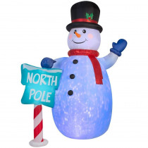 10 Ft. Inflatable Airblown Snowman with Projection Kaleidoscope
