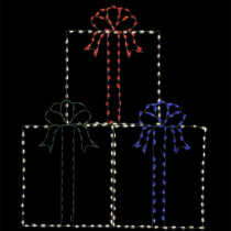 72 in. LED Christmas Presents Wire Decor