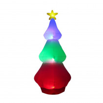 10 ft. Inflatable Red Green Blue Color Changing Tree