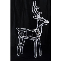5 Ft Standing Buck LED Rope Light Reindeer