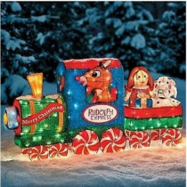 3D Rudolph the Red Nosed Reindeer Tinsel Train