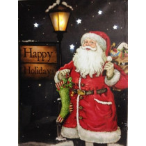 Happy Holidays Lighted Santa Claus