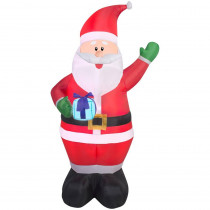 6.5 ft. H Inflatable Santa with Present