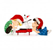 Lighted Schroeder, Snoopy and Leaning Lucy Peanuts Christmas Decoration