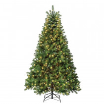 6.5' Seneca Pine Pre-Lit Artificial Christmas Tree with 500 Clear Lights