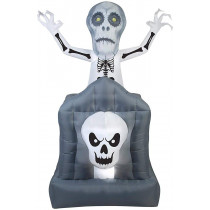 6' Animated Airblown Skeleton Ghost Tombstone Scene Inflatable