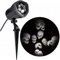 Chasing Skull Strobe Whirl-A-Motion Projection Spotlight