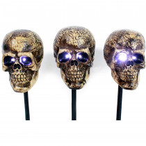Sound Activated Halloween Skull Markers Set of 3
