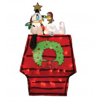 26-Inch Pre-Lit 3D Peanuts Snoopy on Dog House