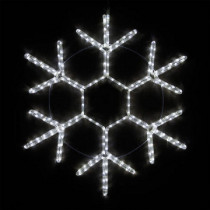 "20"" LED Snowflake Cool White Rope Light Christmas Decoration"