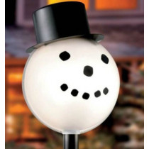 Snowman Lamp Post Light Cover Outdoor Christmas Decoration