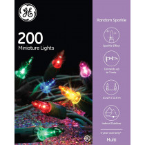 Ge Random Sparkle 200 Miniature Multi-Color Light String Set