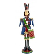 "70"" Iron Metal Toy Soldier with Drum Christmas Decoration"