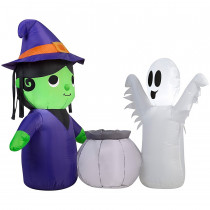 5 ft. Wide Witch and Ghost Airblown Inflatable