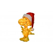 18 in. LED 3D Pre-Lit Woodstock in Santa Hat