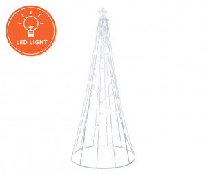 8 Foot Multi-Function Light-Up LED String Tree