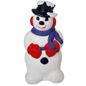 "31"" Derby Snowman Blow Mold Christmas Decoration"