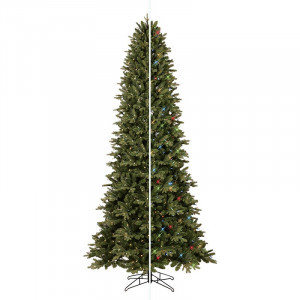GE 9-FT Pre-lit Just Cut Deluxe Aspen Fir Artificial Christmas Tree with Color Option LED Lights