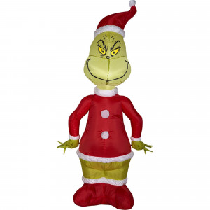4 Ft Inflatable Santa Grinch