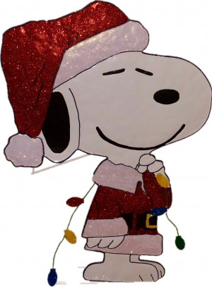 "32"" Peanuts Snoopy in Santa Suit Hammered Metal Christmas Decoration"
