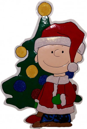 42-inch Peanuts Metal Charlie Brown With Tree Christmas Decoration