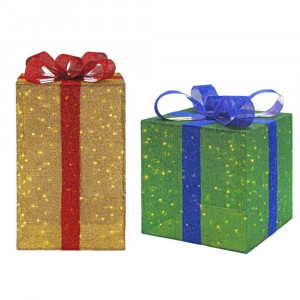 LED Jumbo Gift Boxes Set of 2 - 35 in. & 28 in.