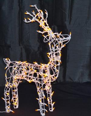 LED Lighted Wire Frame Reindeer Standing Buck